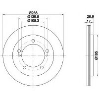 Тормозные диски Mazda  3 (03-..., передние, D276, ProTech), фото 1