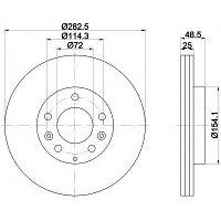Тормозные диски Mazda 6 (передние, Optimal, D283)