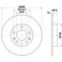 Тормозные диски Mazda 6  (задние, Optimal, D280)