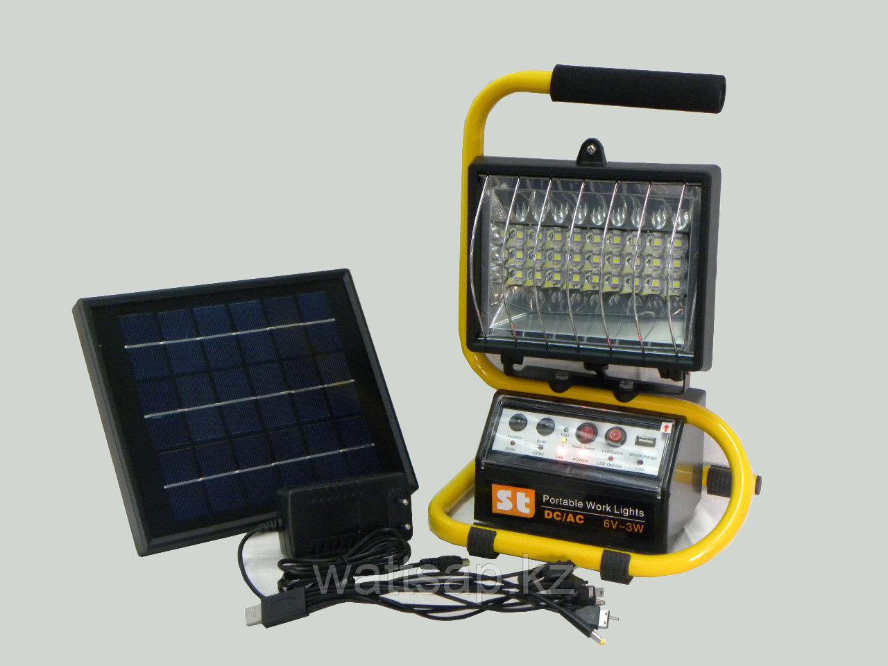 Солнечная мини-электростанция со светодиодным прожектором