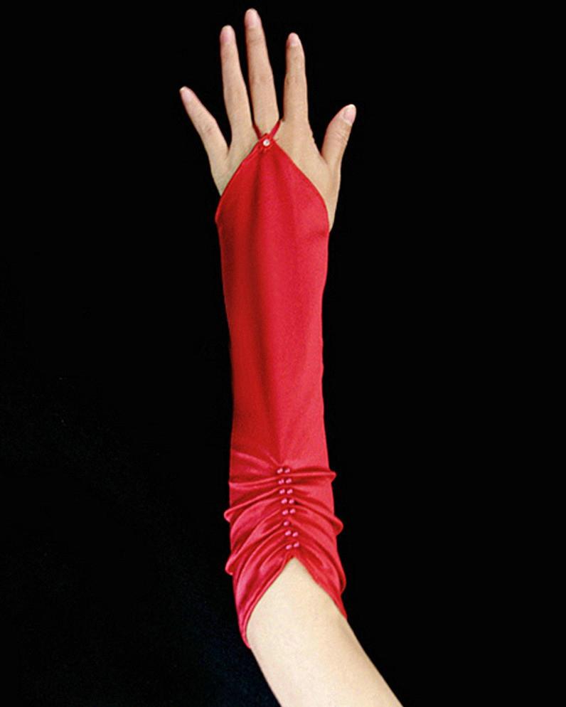 Перчатки с драпировкой
