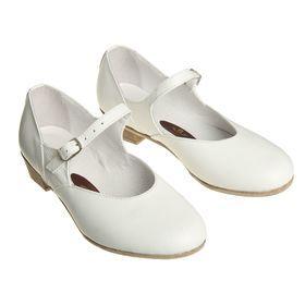 Туфли народные женские, длина по стельке 20,5 см, цвет белый - фото 1