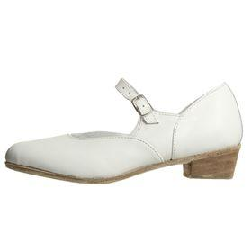 Туфли народные женские, длина по стельке 20,5 см, цвет белый - фото 2