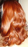 Хвост накладка на ленте из искусственных волос коричневые