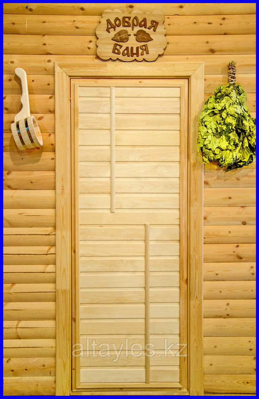 Дверь деревянная для бани и сауны 1800*700 (липа 1 сорт)
