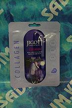 Jigott Real Ampoule Mask Collagen – Подтягивающая и питательная тканевая маска с коллагеном