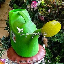 """Лейка с рассеивателем, пластиковая """"Зета"""". Цвет: Зеленый. Объем: 12л."""