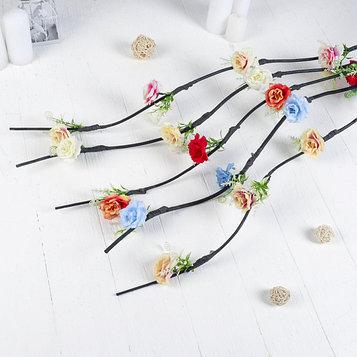 "Декор ветка ""Нежные розы"" 150 см (фасовка 5 шт., цена за 1 шт.), микс"