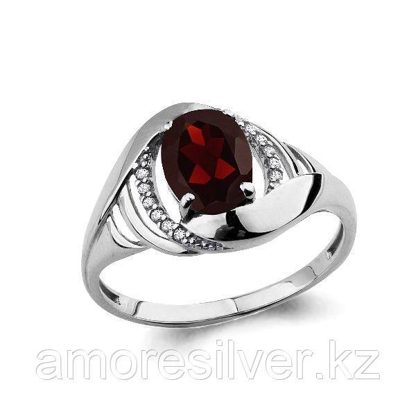 Серебряное кольцо с гранатом   Аквамарин 6575503А