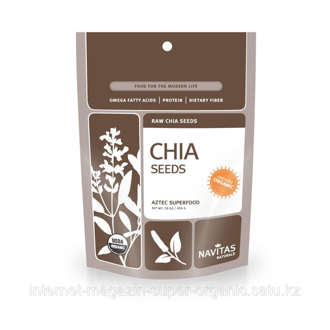 Семена Чиа (Organic Raw Chia Seeds), 454 г, Navitas Naturals