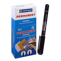 Маркер Centropen 2846 перманентный, 1.0 мм, чёрный (комплект из 10 шт.)