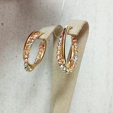 Золотые серьги - конго с шариками
