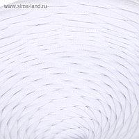 Пряжа трикотажная широкая 100м/350гр, ширина 7-9мм (белый)