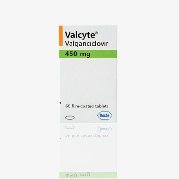 Вальцит ( valcyte) валганцикловир 450мг/60таб Roche , Швейцария