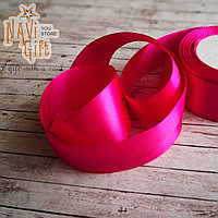 Атласная лента, candy pink, 4см*25м, фото 1