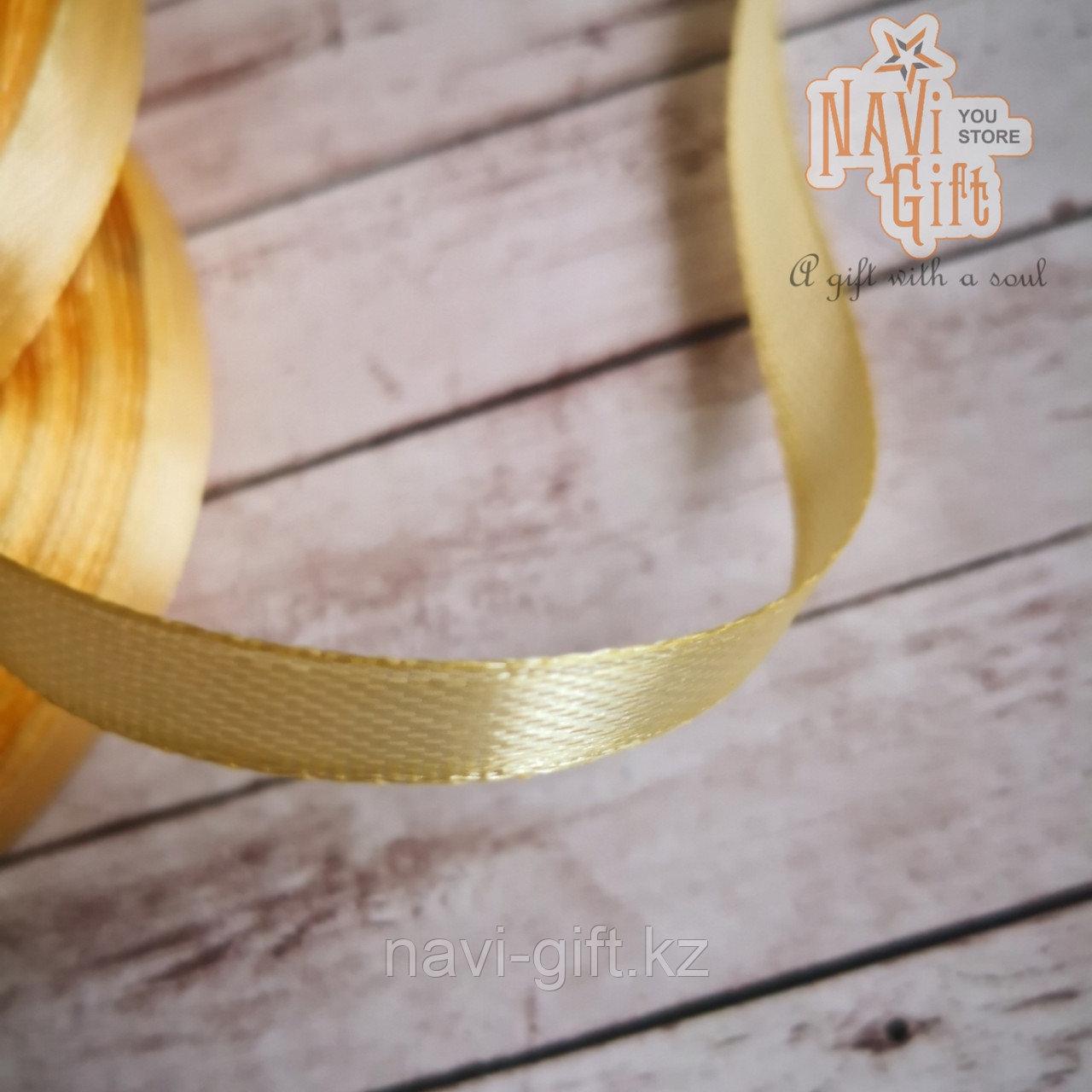 Атласная лента пломбир, 0,5см*25м - фото 1