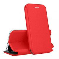 Кожаный книжка-чехол Open case для Honor 10 (красный)