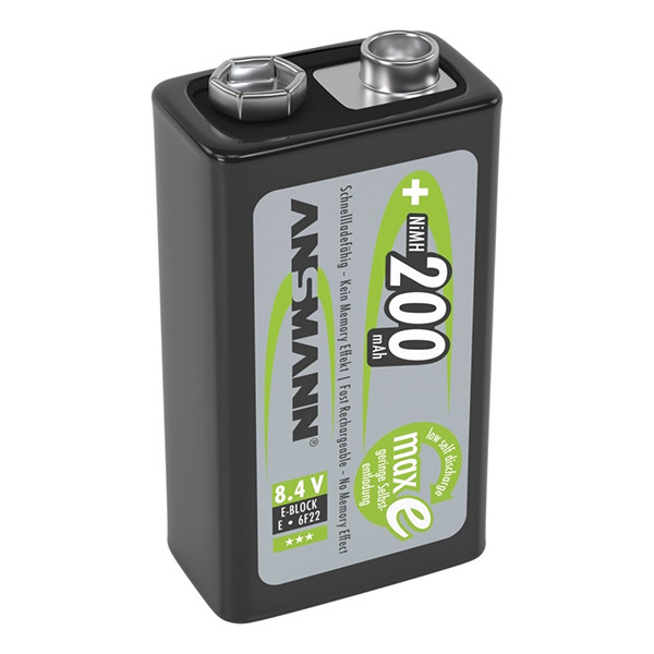 Аккумулятор Ni-MH Ansmann  MaxE E-Block 200мАч 9В крона 1шт