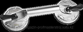 Стеклодомкрат алюминиевый подъемник двойной на присоске, 80 кг, серия «ПРОФЕССИОНАЛ», ЗУБР