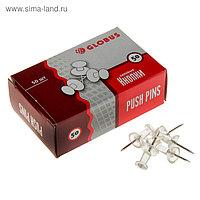 Кнопки силовые прозрачные 50 шт., GLOBUS, карт/коробка