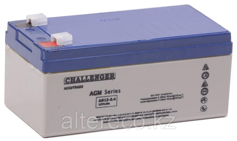 Аккумулятор Challenger AS12-3.2 (12В, 3,3Ач), фото 2