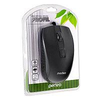 "Мышь Perfeo оптическая ""PROFIL"" 4 кн, USB, DPI 800-1600 черная (PF-383-OP-B)"
