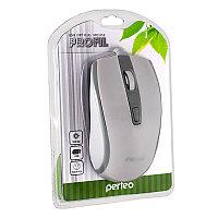 "Мышь Perfeo оптическая ""PROFIL"" 4 кн, USB, DPI 800- 1600 бело-серый (PF-383-OP-W/GR)"