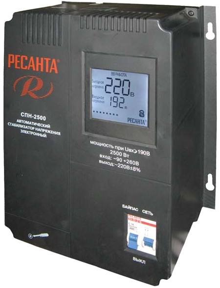 Стабилизатор напряжения  РЕСАНТА СПН-2500
