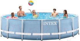 Бассейн каркасный Intex Prism Frame Pool, 366 х 76 см + фильтр-насос (28712)