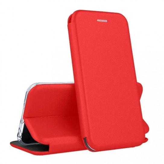 Кожаный книжка-чехол Open case для Meizu 16 (красный)