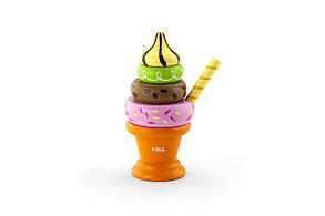 """Игрушка - пирамида """"Мороженое"""" оранжевый"""