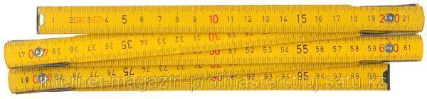 Метр складной деревянный, 2.0 м, STAYER