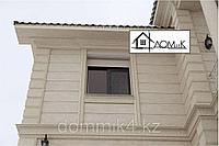 Фасадные панели под травертин с натуральной крошкой камня