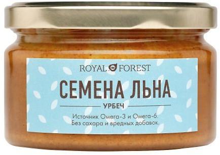 Урбеч без сахара из семян белого льна, 200 г