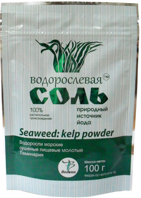 Соль водорослевая «Ламинария», 100 г