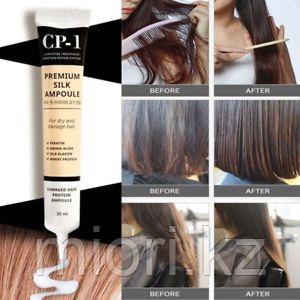 Несмываемая сыворотка для волос с протеинами шелка,Esthetic House CP-1 Premium Silk Ampoule