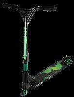 🛴 Трюковой самокат Kick Scooter с усиленным хомутом 61 см, колесо 110мм - Зеленый для трюков!