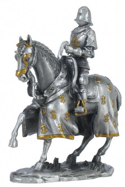 Статуэтка оловянный солдатик Wise Unicorn Рыцарь Конный крестоносец, Высота: 100 мм, Материал: Оловянный сплав