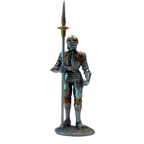 Статуэтка оловянный солдатик Wise Unicorn Рыцарь с копьем, Высота: 105 мм, Материал: Оловянный сплав, (AT08079