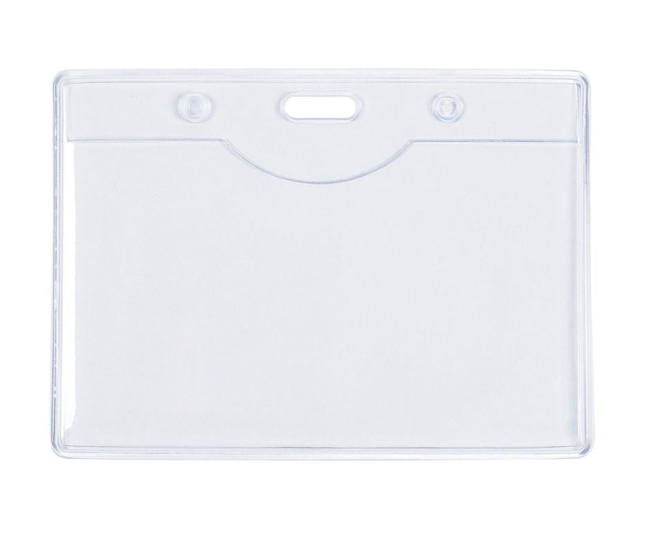 Бейдж горизонтальный Berlingo, 70 x 95 мм, без зажима, мягкий, прозрачный