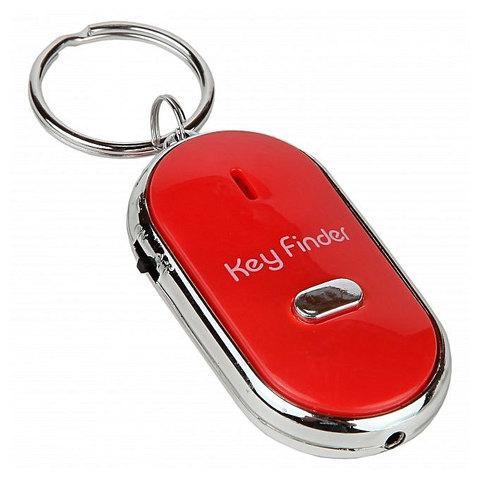 Брелок для поиска ключей Key Finder реагирующий на свист (Красный)