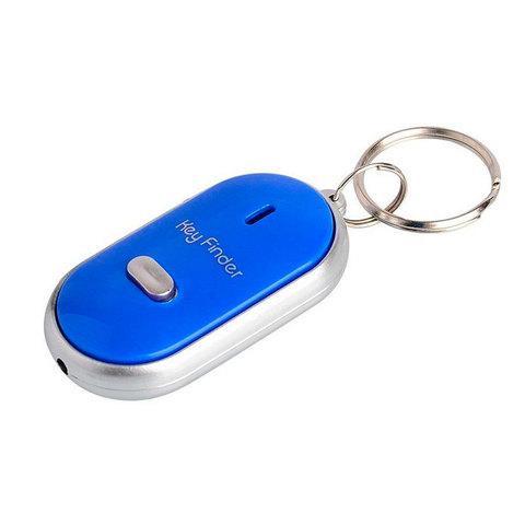 Брелок для поиска ключей Key Finder реагирующий на свист (Синий)