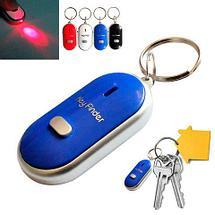 Брелок для поиска ключей Key Finder реагирующий на свист (Синий), фото 3