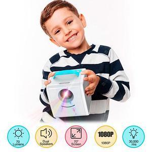 Мини-проектор LED Kids Story Projector со встроенным проигрывателем и аккустикой