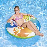 """Надувной круг для плавания """"Вихрь цвета"""" 122 см с ручками, Intex 58202"""