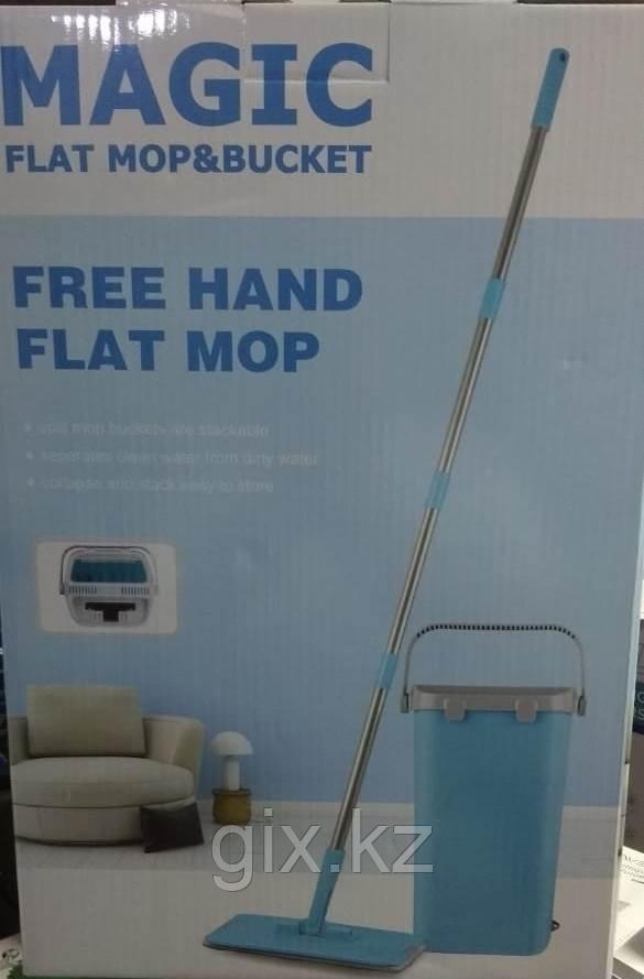 Швабра и ведро с отжимом Flat Mop & Bucket