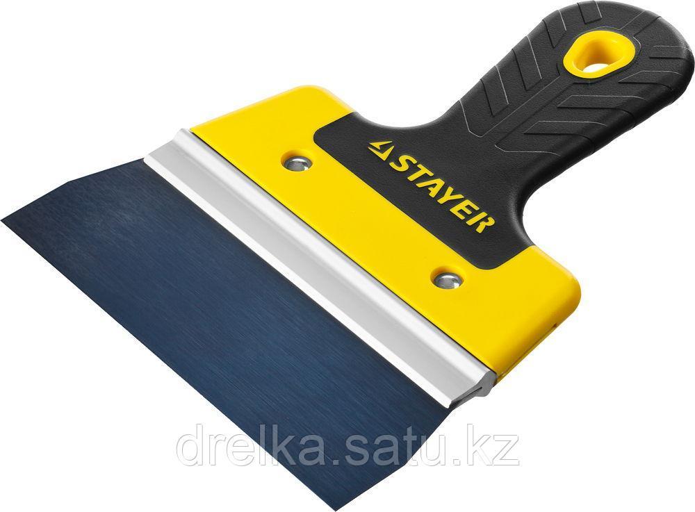 ProFlat фасадный шпатель анодированный 150 мм, 2к ручка, STAYER
