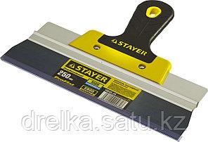 ProFlat фасадный шпатель анодированный 250 мм, 2к ручка, STAYER, фото 2