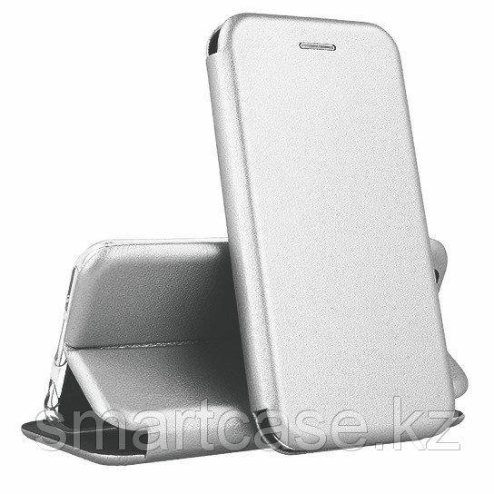 Кожаный книжка-чехол Open case для Samsung Galaxy J6 PLUS (серый)