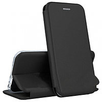 Кожаный книжка-чехол Open case для Samsung Galaxy J4 PLUS (черный)